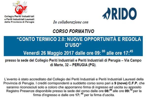 Corso Conto Termico 2.0 - Periti Industriali Perugia - 26.5.2017