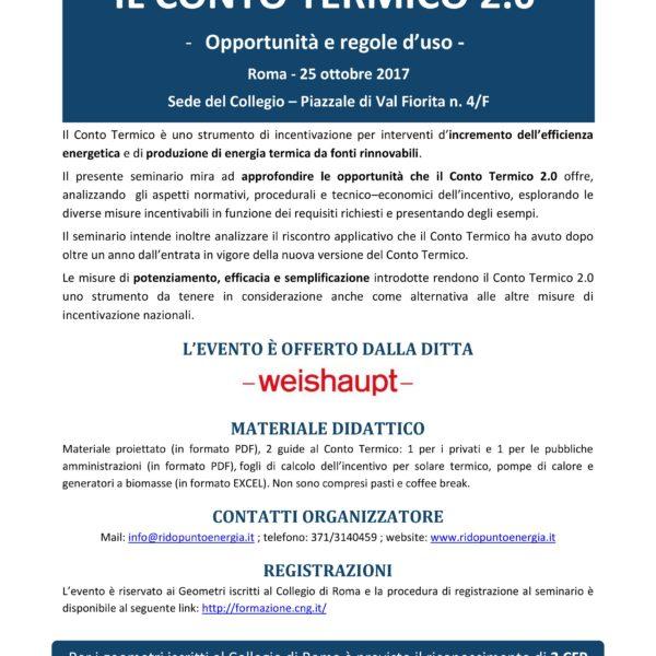 RIDO - Conto Termico 2.0 Roma 25.10.2017