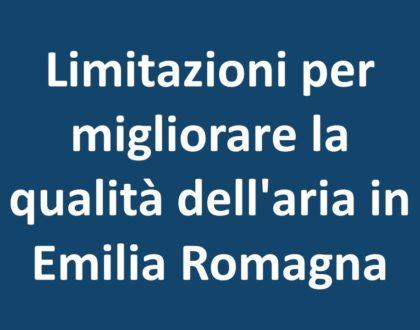 Limitazioni per migliorare la qualità dell'aria in Emilia Romagna