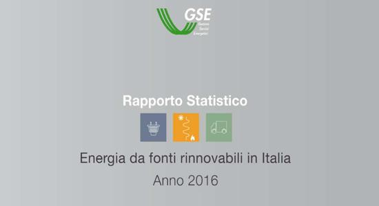 L'energia da fonti rinnovabili in Italia nel 2016