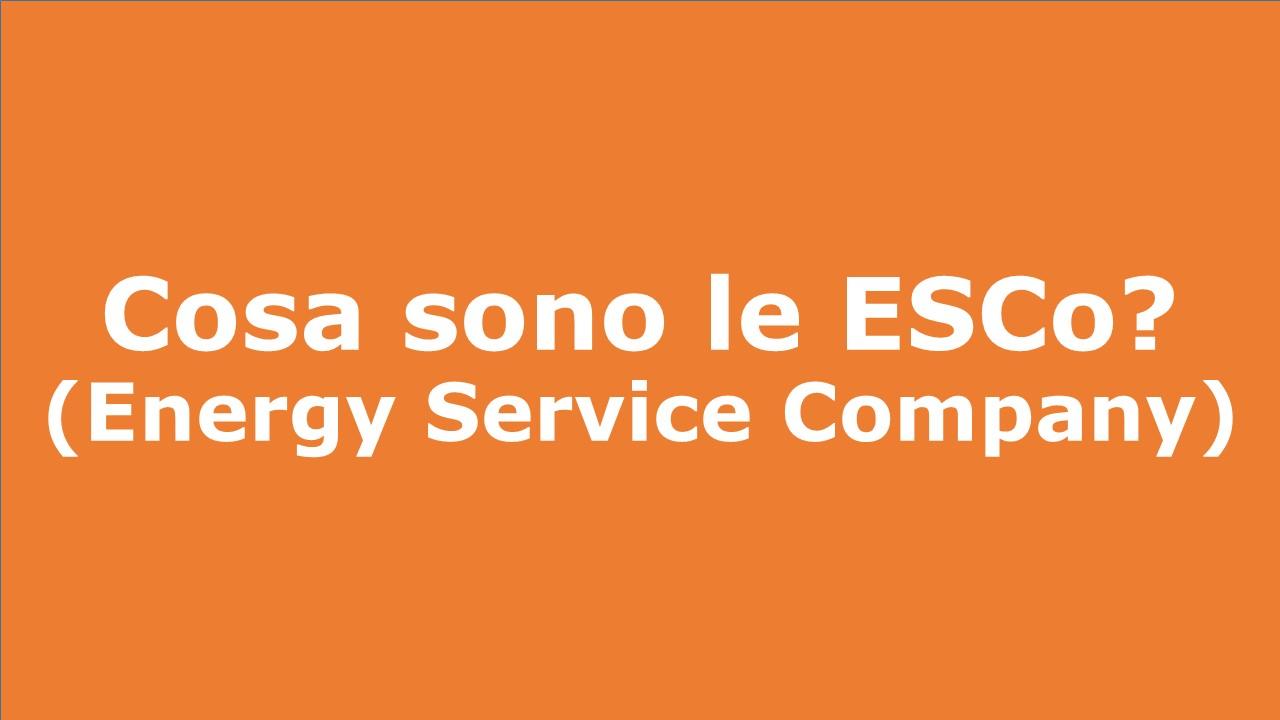Cosa sono le ESCo (Energy Service Company)?