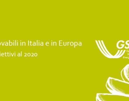 Fonti rinnovabili in Italia e in Europa verso il 2020