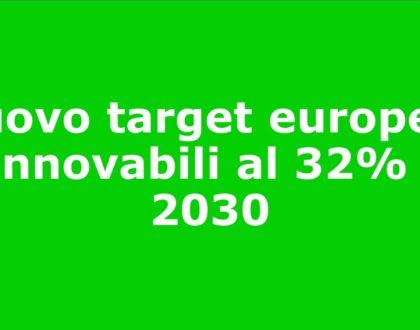 Revisione obiettivi europei sulle energie rinnovabili al 2030