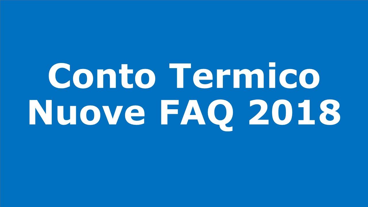 Nuove FAQ 2018 relative al Conto Termico