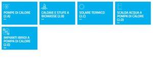 Sezione conto termico nel portale GSE - le misure per i privati