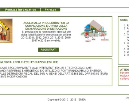 Comunicazione ENEA per ristrutturazioni edilizie che accedono al Bonus casa
