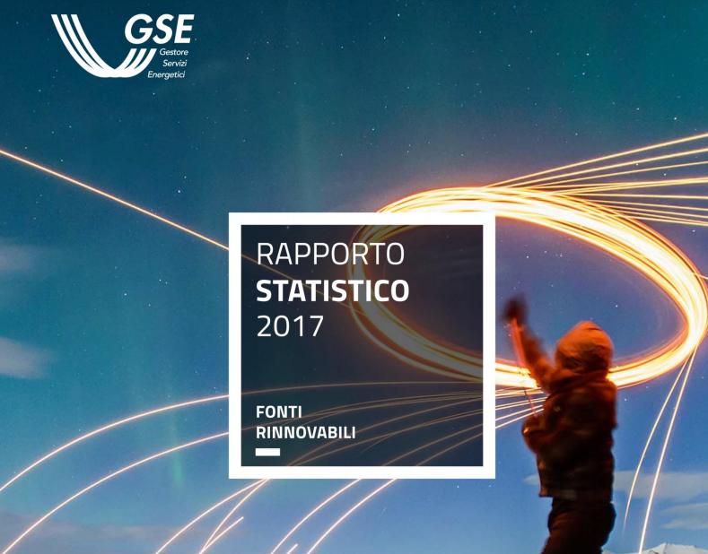 Rapporto statistico fonti rinnovabili 2017